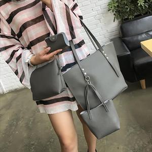 Women Bag Set Top Handle Large Capacity Female Vintage Tassel Handbag Fashion Shoulder Bag Purse Ladies PU Leather Crossbody