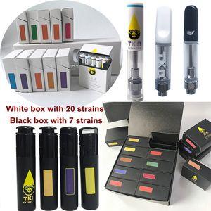 0.8ml TKO Cartridges 1ml Ceramic Vape Cartridge Packaging TKO Extracts Dab Pen Wax Vaporizer 510 Thread Empty Oil Atomizer Carts In Stock