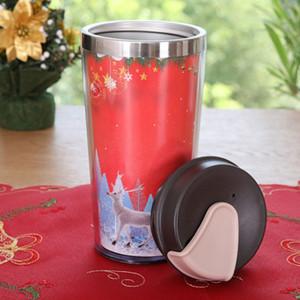 أرخص 15oz عيد الميلاد عالية الجودة جدار مزدوج Insualted القهوة القدح الشرب الفولاذ المقاوم للصدأ البن القدح المياه البهلوان