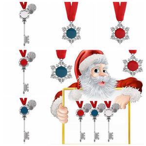 Noel kar tanesi Anahtarlık kolye dekorasyon Sihirli Noel Baba Noel ağacı Süsler hediyeler DIY Kolye Takı parti FFA4475 sahne