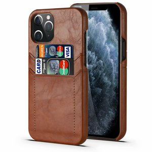 For iPhone 11 12 mini Retro Card Phone Cover For iPhone SE20 7 8 Plus XS 12 Pro Max Samsung S20 Note 20 Leather Case