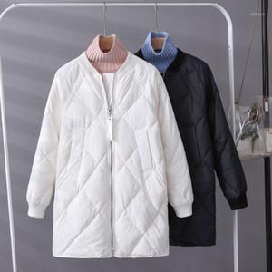 New Women Duck Down Coat Women Casual Long Sleeve Zipper Long Down Puffer Jacket Female Single Breasted Warm Ultra Light Parkas1