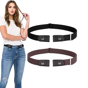 2019 без пряжки ремень для джинсов брюки платья без пряжки растягиваться эластичный талийский ремень для женщин / мужчин без выпуклости без талии