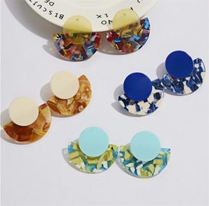 Geometry Sector Ciondoli auricolari circolari Acetic Acid Acid Plate Orecchini Personalità Donna Moda Orecchino Accessori per gioielli 2 6SFC O2
