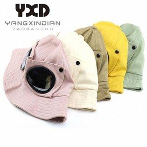 2020 2020 Spring Muchachos que pescan sombreros de moda cubo de las muchachas Pescador sombrero protector solar piloto casquillos del verano Gafas de sol Niños Niños Gorros fh9F #