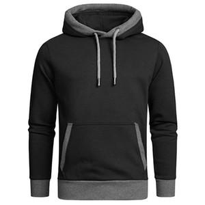Hoodies Men Male pure color Hooded Sweatshirt Mens Hoodie Tracksuit Sweat Coat Casual Patchwork Sportswear Hooded Pullover