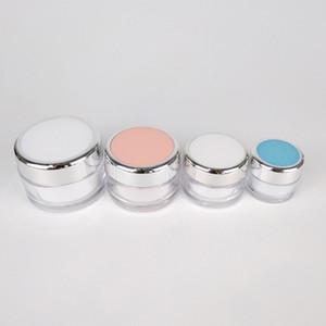 Очистить красоты Snail Cream баночки Розовый Белый Круглый 15г 20г 40г 50г Пластиковые Eye Mask Гель колодки Горшки 10шт / много