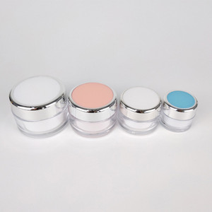 Limpar beleza caracol Creme Jars Rosa Branco Rodada 15g 20g 40g 50g de plástico Eye máscara de gel Pads Panelas 10pcs / lot