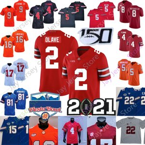 NCAA Football Jersey CLEMSON LAWRENCE ETIENNE UIAGALELEI ALABAMA WADDLE HARRIS METCHIE Florida Tebow Smith Ohio State Olave Wilson Fleming