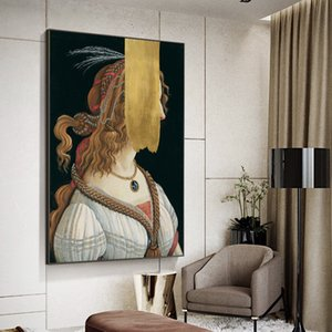 Portrait of a Young Woman by Sandro Botticelli Famous Painting Wall Art Canvas Decor Prints on Canvas Pictures for Living Room