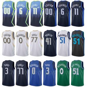 City Earned Edition Screen Print Basketball Josh Richardson Jersey 0 Kristaps Porzingis 6 Jalen Brunson 13 Dirk Nowitzki 41 Dwight Powell 7