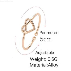 Infinity Knot Hollow Love Rings Rings Bowknot Мода Персик Сердце Простое Рука Кольцо Пальца Свадебные Женские Свадебные подарки