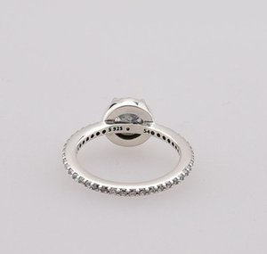 Real 925 Sterling Silver Cz Diamond Ring With Original Box Set Fit Pandora Style Wedding Ring Engagement Jewe jlljqV ffshop2001