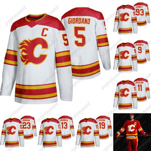 2020-21 Calgary Flames 13 Johnny Gaudreau Jersey Mark Giordano Matthew Tkachuk Sean Monahan Mikael Backlund David Rittich Ice Hockey Jerseys