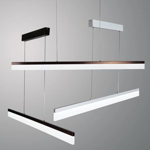 Modern LED Pendant Lights for office Dining Room Living Room Long Strip hanging Lamp Lighting Fixture home decoration