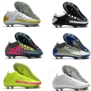 Hayalet GT Elite FG Futbol Boots Eğitmenler Futbol Ayakkabı sıcak Erkek Sert Zemin Açık Deri Dikenler Futbol Profilli 39-45