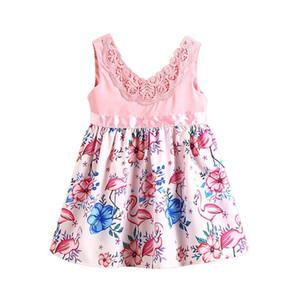 Prinzessin Mädchen Kleid Mode V-Ausschnitt Spitze Blumenkleid Für Mädchen Party Hochzeit Holiday Kleider 2019 Kind Jllhzj