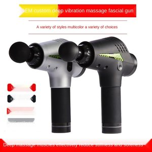 Home electric fascia gun massage gun muscle relaxant impact gun fitness exercise restore cervical massage