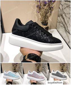 Designer Luxury Platform Classic Casual Shoes Mens Womens Skateboarding Shoes Sneakers Glitter Shinny Heelback Dress Shoe Tennis chaussures