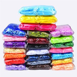 100Pcs lot Jewelry Drawstring Organza Bags Pouches Candy Jewelry Party Wedding Favor Gift Bags With Drawstring