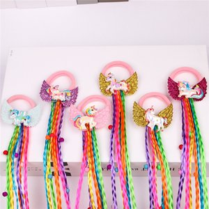 Bebê Meninas Colorido Peruca Cabelo Cabelo Clipes Barrete Headress Cabelo Pins Party Cartoon Hair Ring Bonito Moda Acessório Barato E123106