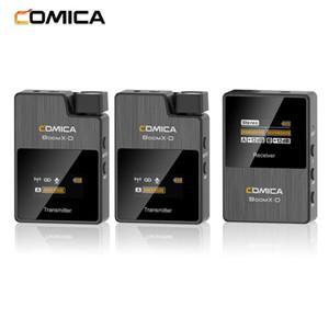 COMICA 2.4G Digital Wireless Microphone System 50M Effective Range 3.5mm Interface for DSLR Mirrorless Cameras Smartphone mic