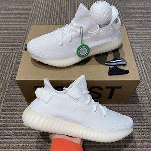 2020 Confort para hombre de los zapatos corrientes Desierto mujeres mejor Deportes zapatillas de deporte de Kanye West Sage estático Tierra Zyon cola Tamaño de la escoria V2 luz con el balón de 4-13