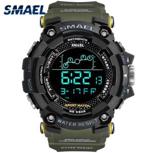 Reloj para hombre de Agua militar resistente SMAEL Deporte Ejército reloj de pulsera llevó cronómetros digitales para el varón 1802 del relogio masculino Relojes