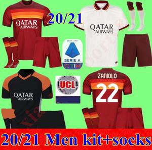 Комплект для взрослых 20 21 ROMA дом вдали третий футбол Джерси 2020 2021 AS PASTORE Джеко Zaniolo EL Шаарави РИМ Мужчины маек