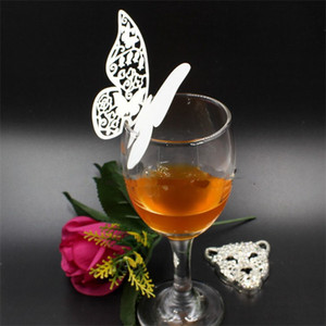 White Hollow Paper Butterfly Cards Wedding Decorations Card Party Hotel Home Red Wine Champagne Cards 0 2jg G2