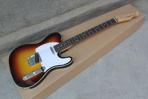 Бесплатная Доставка Оптовая TL Электрическая гитара, Натуральная коричневая Гитара TL Белый Пикагурда Электрическая гитара