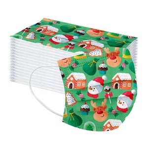 Yh_pack Mscara Рождество Быстрая доставка Masque серьги Одноразовая маска для взрослых маска 10/50 / 100pc 3 слоя повязка BbyXky Industrial Sjfpn