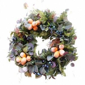 Queda Porta Decoração Artificial Rattan Vine grinalda queda Frente do casamento do outono Porta Coroas Frente grinalda Farmhouse Decors xs9n #