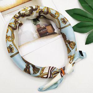 Multifunktionale Seidentuch Frauen Elegante Dame Schals Designer Schal Maske Kopfband Head Cover Rayon Girls1