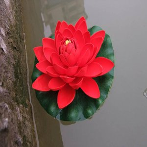 Artificial Water Lotus Waterscape Botany Artificial Foam Lotus Pond Flower Lily Simulation Floating Pool Plants Decoration