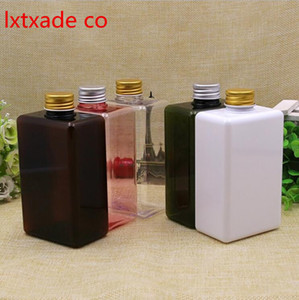 Free Shipping 300ml Empty Plastic Square Packaging Bottle New Style Originales Refillable Big Cosmetic Containers Retail