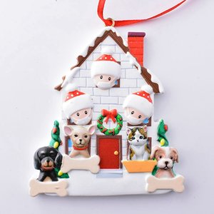 Christmas Ornament Personalized Survivor Family 2 3 4 5 Resin Decorations Masked DIY Christmas Tree Hanging Gift Pendant DDA669