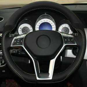 Top кожаный руль ручной стежок на Wrap Обложка для Mercedes-Benz GLK 260