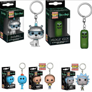 Funko Pop Rick Pocket Rick Keychain und Morty Keychain Herr Meeseneks Action Figure Spielzeug