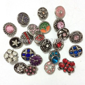 snap button 18mm jewelry Rhinestone Round Metal Rhinestone Snap Buttons Fit Snap Bracelet Bangles Necklaces