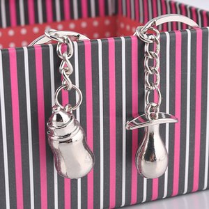 Couple Key Chains Milk Bottle Nipple Key Ring Baby Shower Gift Lover's Valentine's Day Favor