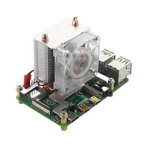 Tower Cooling Fan Super Heat Dissipation 7 Color Light Fan with Heat Sinks for Raspberry Pi 4B 3B+ 3B