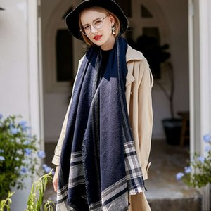 Autumn and winter new European Han Yiwu cashmere Plaid Scarf women's 1501