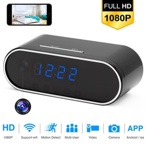 Table Clock Camera 4K 1080P HD WIFI Control Concealed IR Night View Alarm Mini DV DVR Camcorder Home Secret Invisible hidden TF 201203
