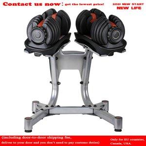 Gym Dumbbells 24kg 52.5lb Dumbbell Dumbbell Réglage 16 Engrenages Réglage rapide Equipements de Fitness automatique