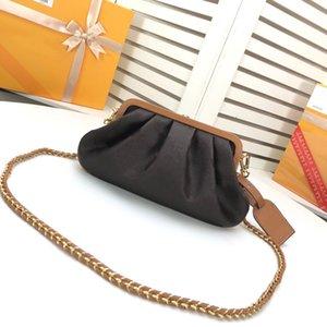 Дизайнерская классическая женская сумка на плечо мешок мешок новая старая цветочная мозаика желтая цветочная цепь формированная как облако, внутреннее пространство может быть