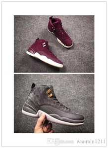 Hot Sale-Discount cheap 2018 New Men Women 12 Dark Grey Basketball Shoes For Sport Shoe 12s Athletic Trainers Sneakers size 36-47 YfT