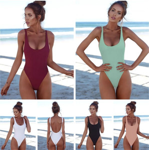 Fashion Bikini Swimwear For Women Bathing Suit Beachwear Summer Black White One Piece Sexy Lady Swimsuit Clothes