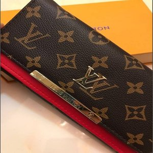 Wholesale women red bottoms lady long wallet hasp designer coin purse Card holder classic pocketd with original box dust bag