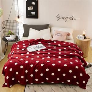 Lrea Super Microplush Microplush Lã Quente Adulto Sofá Lançamento Cobertor Points ColorSpreads Capa na cama de 201111